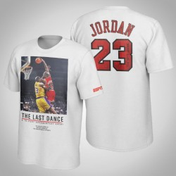 Bulls Michael Jordan & 23 The Last Dance Dunk über James T-Shirt Weiß