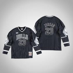 Herren Bulls Michael Jordan & 23 Black 1998 Finals Champion Interpretieren Hockey Jersey