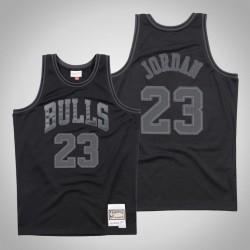 Herren Bulls Michael Jordan & 23 Black Tonal Holz Classics Jersey