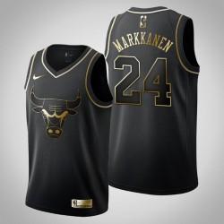 Chicago Bulls Lauri Markkanen & 24 Black Jersey - Golden Edition