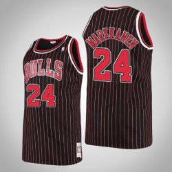 Herren Bulls Lauri Markkanen & 24 Black 1995-96 Holz Classics Jersey
