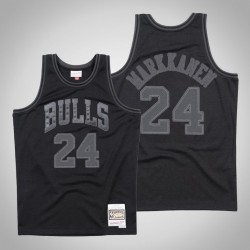 Herren Bulls Lauri Markkanen & 24 Black Tonal Holz Classics Jersey