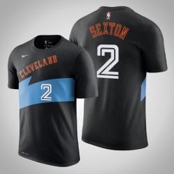Cleveland Cavaliers, 2 Collin Sexton Hardwood Classics Schwarz 2020 Saison Name & Nummer T-Shirt