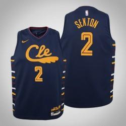 Jugend Collin Sexton Cavaliers & 2 Stadt Navy 2020 Saison Jersey