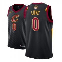 Männer 2018 NBA Finals Patch-Kevin Love Cleveland Cavaliers und 0 Statement Schwarz Swingman Jersey