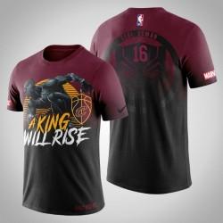Männer Cleveland Cavaliers Cedi Osman & 16 Red Marvel Wakanda für immer T-Shirt