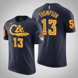 Cleveland Cavaliers und 13 Tristan Thompson Stadt Navy 2020 Saison Name & Nummer T-Shirt