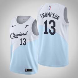 Männer NBA 2018-19 Tristan Thompson Cleveland Cavaliers und 13 verdient Edition Blue Swingman Jersey