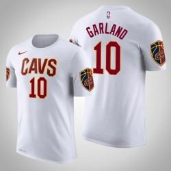 Männer Darius Garland Cleveland Cavaliers und 10 Verband Weiß Name & Nummer T-Shirt