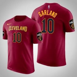 Männer Darius Garland Cleveland Cavaliers und 10 Icon Maroon Name & Nummer T-Shirt