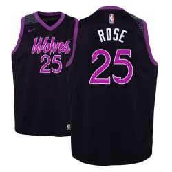 Jugend NBA 2018-19 Derrick Rose Minnesota Timberwolves und 25 Ort Ausgabe purpurrotes Trikot