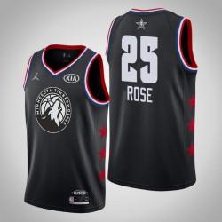 2019 NBA All-Star-Männer Minnesota Timber Derrick Rose # 25 Black Swingman Trikot