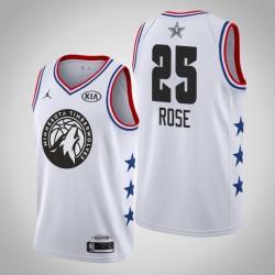 2019 NBA All-Star-Männer Minnesota Timber Derrick Rose # 25 Weiß Swingman Trikot