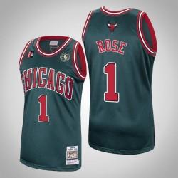 Chicago Bulls Derrick Rose # 1 Grün 2008-09 Holz Classics Swingman Mitchell # Ness Trikot