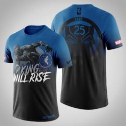 Minnesota Timberwolves Derrick Rose # 25 Marvel Blau Wakanda für immer T-Shirt
