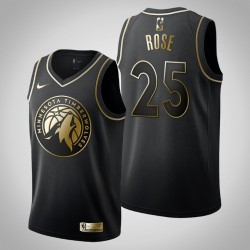 Minnesota Timberwolves Derrick Rose # 25 Black Trikot - Golden Edition