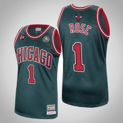 Chicago Bulls Derrick Rose # 1 Grün 2008-2009 Holz Classics Swingman Mitchell # Ness authentisches Trikot