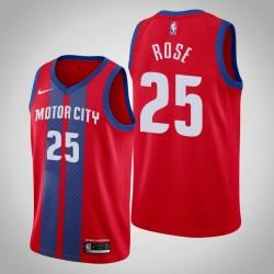 2019-20 Pistons Derrick Rose # 25 Red City Trikot