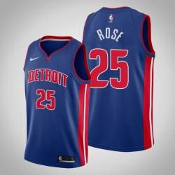 Männer Detroit Pistons Derrick Rose # 25 Blau Swingman Trikot - Icon