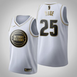 Detroit Pistons Derrick Rose & 25 Golden Edition Weiß Jersey