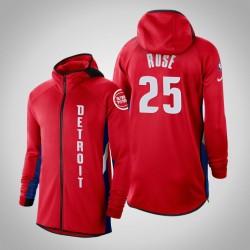 Herren Pistons Derrick Rose & 25 verdient Red 2020 Saison Showtime Hoodie