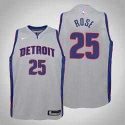 Jugend Derrick Rose Detroit Pistons & 25 Statement Grau Jersey