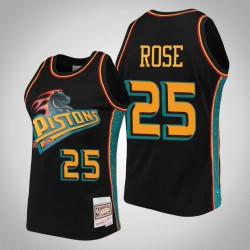Kolben Derrick Rose & 25 Black Ring-Sammlung Swingman Mitchell & Ness Jersey