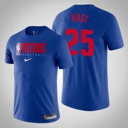 Detroit Pistons Derrick Rose & 25 König Wesentliche Praxis Performance-T-Shirt