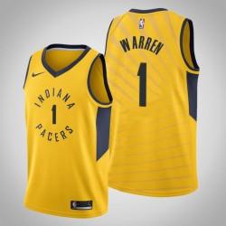 Männer Indiana Pacers T. J. Warren & 1 Gold Statement Jersey