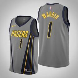 Männer Indiana Pacers T. J. Warren & 1 Grau City Jersey