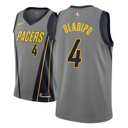 Jugend NBA 2018-19 Victor Oladipo Indiana Pacers und 4 Stadt Ausgabe Grau Jersey