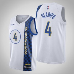 2019-20 Pacers Victor Oladipo & 4 White City Jersey