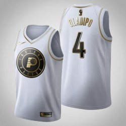 Indiana Pacers Victor Oladipo & 4 Golden Edition Weiß Jersey