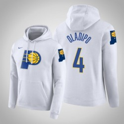 Indiana Pacers & 4 Victor Oladipo Stadt Weiß 2020 Saison PulloverHoodie