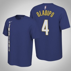 Indiana Pacers und 4 Victor Oladipo verdient Königs 2020 Saison Name & Nummer T-Shirt