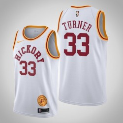 2019-20 Pacers Myles Turner & 33 Weiß Jersey - Classic Edition
