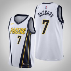 Männer Indiana Pacers Malcolm Brogdon & 7 White verdient Jersey