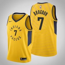 Männer Indiana Pacers Malcolm Brogdon & 7 Gelbe Statement Jersey