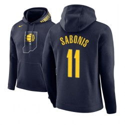 Männer Domantas Sabonis Indiana Pacers und 11 Navy Stadt Ausgabe Hoodie