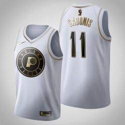 Indiana Pacers Domantas Sabonis & 11 Golden Edition Weiß Jersey