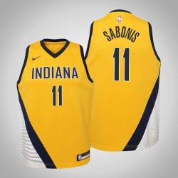 Jugend Domantas Sabonis Indiana Pacers und 11 Statement Gold-2020 Jahreszeit Jersey