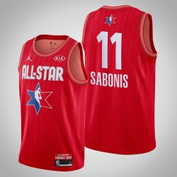 Indiana Pacers Domantas Sabonis & 11 2020 NBA All-Star Game Reserves Red Jersey