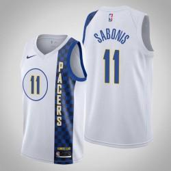 2019-20 Pacers Domantas Sabonis & 11 White City Jersey