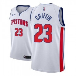 Männer 2017-18 Saison Blake Griffin Detroit Pistons & 23 Verband Weiß Swingman Jersey