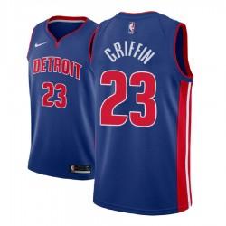Männer 2017-18 Saison Blake Griffin Detroit Pistons & 23 Icon Blau Swingman Jersey