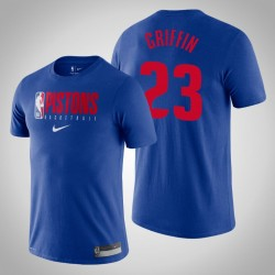 Detroit Pistons Blake Griffin & 23 König Wesentliche Praxis-Leistungs-T-Shirt