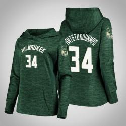 Frauen Bucks Giannis Antetokounmpo Grün 2020 Jahreszeit Showtime Geschehen besser PulloverHoodie