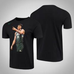 Männer Milwaukee Bucks Giannis Antetokounmpo 2019 NBA Playoffs Held schwarzes T-Shirt