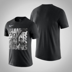 Bucks Giannis Antetokounmpo & 34-Spieler-grafische Performance-schwarzes T-Shirt