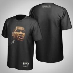 Bucks Giannis Antetokounmpo & 34 Real Big Gesicht Hartholz-Klassiker T-Shirt Schwarz